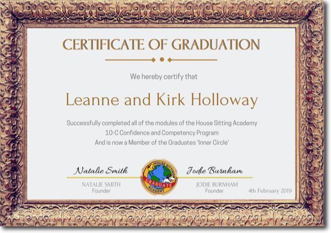 Leanne Kirk HSA Graduates Certificate